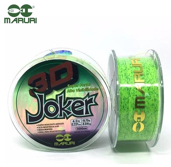 Linha Monofilamento Maruri Joker 3D 0,23mm 10,40lb/4,71kg - 300 Metros