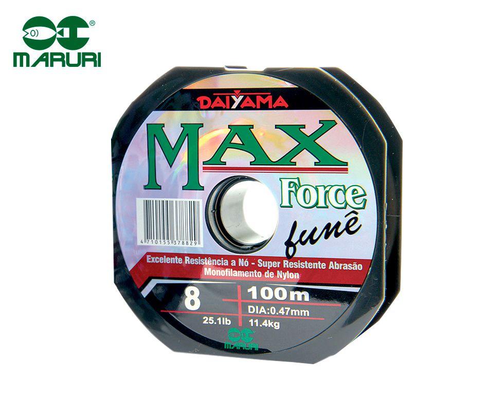 Linha Monofilamento Maruri Max Force Fumê 0,62mm 40,8lbs/18,5kg - 100 Metros