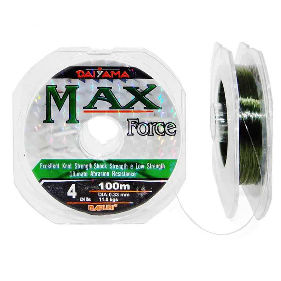 Linha Monofilamento Maruri Max Force Verde 0,29mm 19lbs/8,4kg - 100 Metros