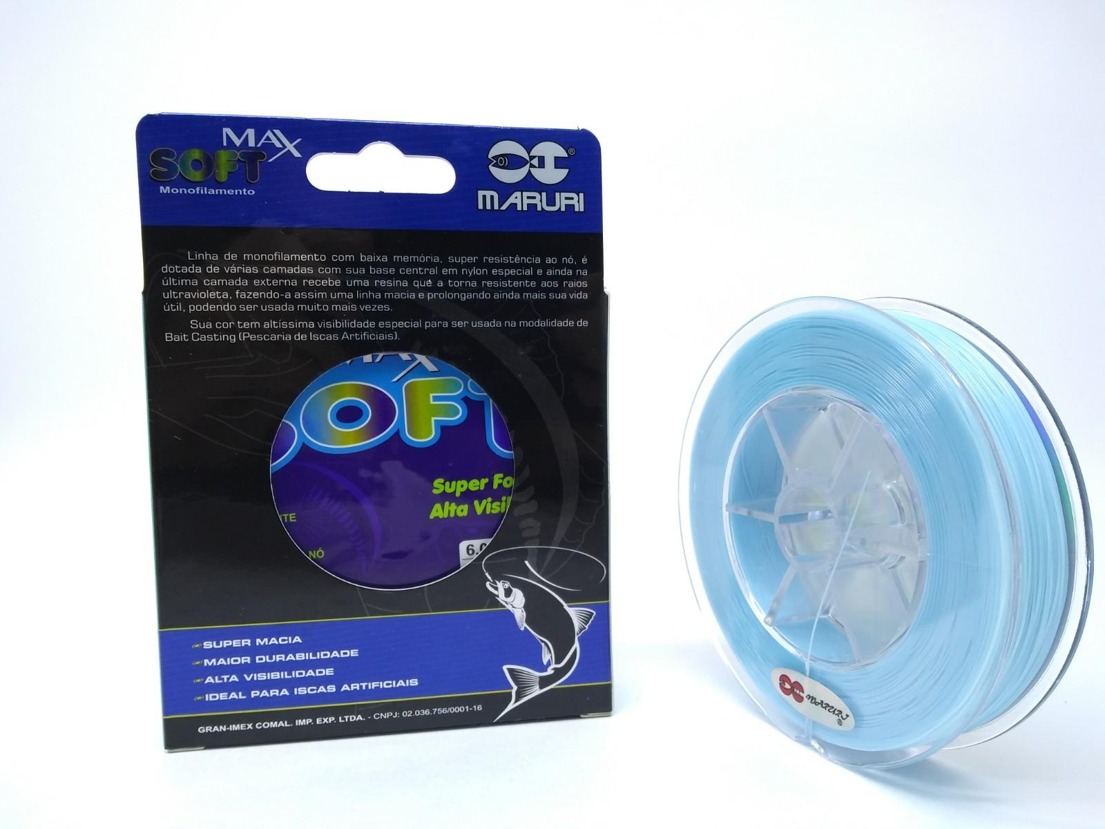 Linha Monofilamento Maruri Max Soft 0,30mm 17,4lb/7,90kg - 300 Metros  - Life Pesca - Sua loja de Pesca, Camping e Lazer