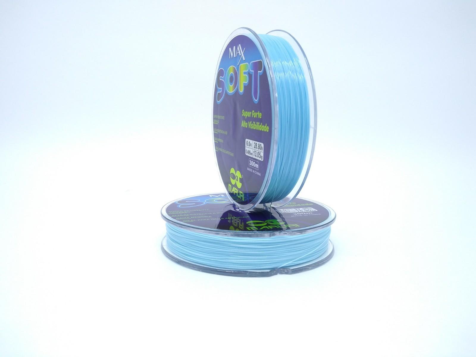 Linha Monofilamento Maruri Max Soft 0,57mm 52,9lb/24,9kg - 300 Metros  - Life Pesca - Sua loja de Pesca, Camping e Lazer
