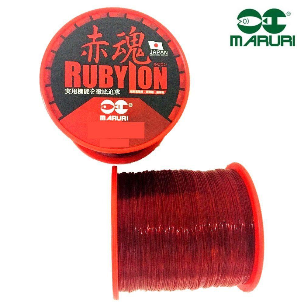 Linha Monofilamento Maruri Rubylon 0,26mm 12,7lbs/5,80kg - 600 Metros