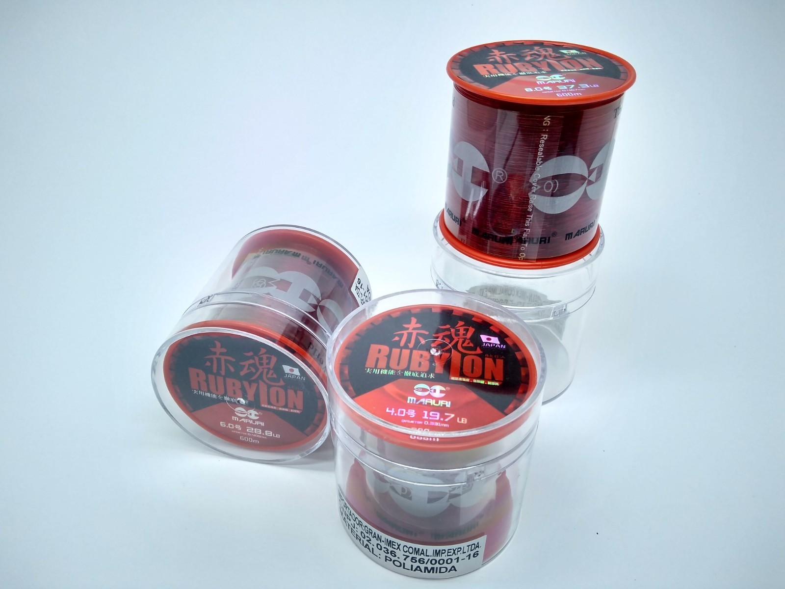Linha Monofilamento Maruri Rubylon 0,62mm 60,0lbs/27,20kg - 330 Metros  - Life Pesca - Sua loja de Pesca, Camping e Lazer
