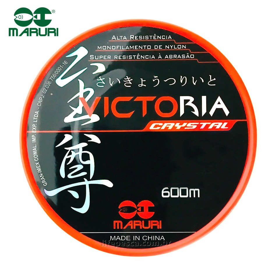 Linha Monofilamento Maruri Victoria 0,23mm 7,1lb/3,2kg - 600 Metros  - Life Pesca - Sua loja de Pesca, Camping e Lazer