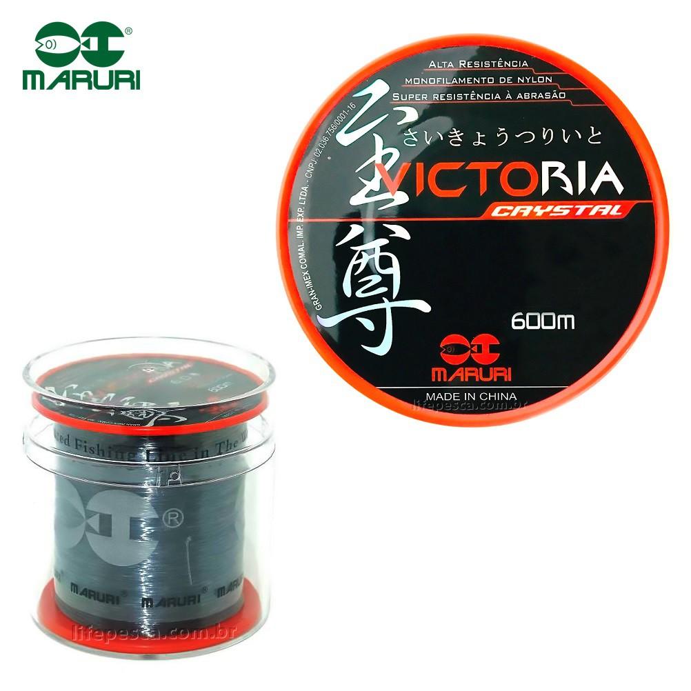 Linha Monofilamento Maruri Victoria 0,26mm 8,8lbs/4kg - 600 Metros  - Life Pesca - Sua loja de Pesca, Camping e Lazer