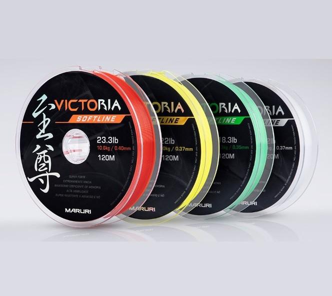 Linha Monofilamento Maruri Victoria Softline 0,33mm 16,1lb/7,3kg - 120 Metros