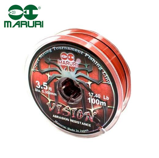 Linha Monofilamento Maruri Vision 0,33mm 19,7lbs/8,93kg - 100 Metros