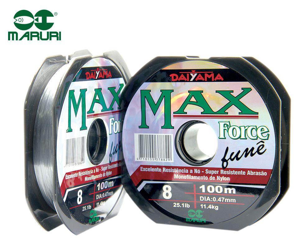 Linha Monofilamento Maruri Max Force Fumê 0,82mm 66,3lbs/30,1kg - 100 Metros  - Life Pesca - Sua loja de Pesca, Camping e Lazer