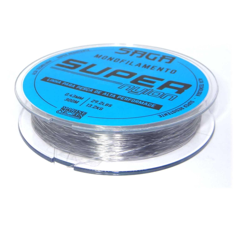 Linha Monofilamento Saga Super Nylon Smoke 0,26mm 11lbs/5,12kg - 300 Metros  - Life Pesca - Sua loja de Pesca, Camping e Lazer