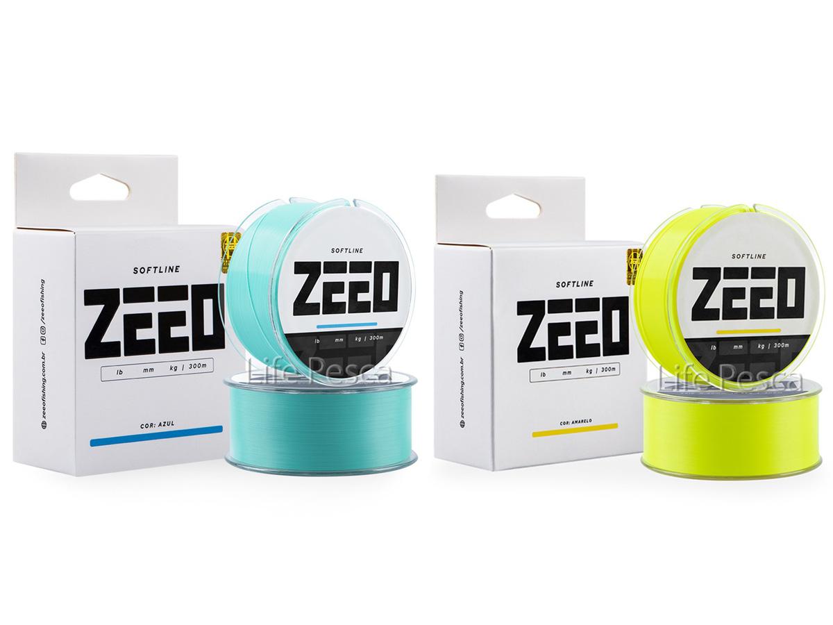 Linha Monofilamento Softline ZEEO 0,45mm 29,0lb/13,3Kg - 300 Metros