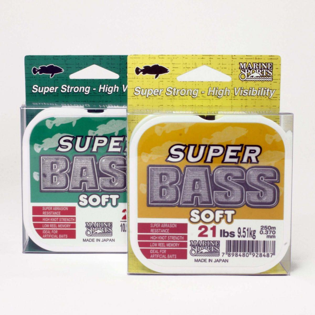 Linha Monofilamento Super Bass 0,40mm 24lb/10,87kg - 250 Metros - Marine Sports