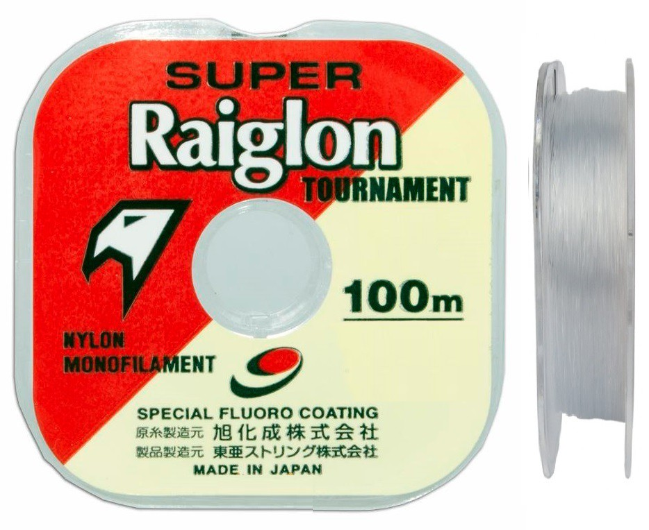 Linha Monofilamento Super Raiglon 0,330mm 25lbs/11,37kg - 100 Metros