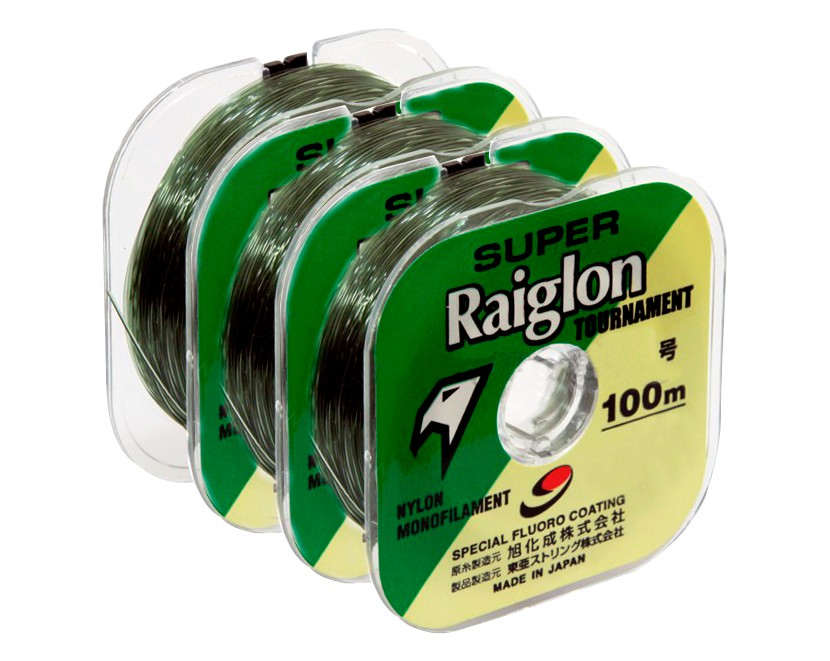 Linha Monofilamento Super Raiglon 0,520mm 55lbs/24,8kg - 100 Metros  - Life Pesca - Sua loja de Pesca, Camping e Lazer