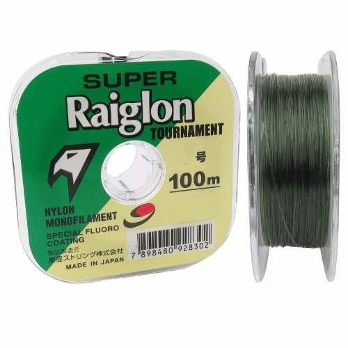 Linha Monofilamento Super Raiglon 0,700mm 82lbs/37,35kg - 100 Metros  - Life Pesca - Sua loja de Pesca, Camping e Lazer