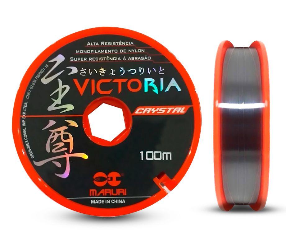Linha Monofilamento Victoria Crystal Maruri 0,40mm 19,6lbs/8,8kg - 100 Metros