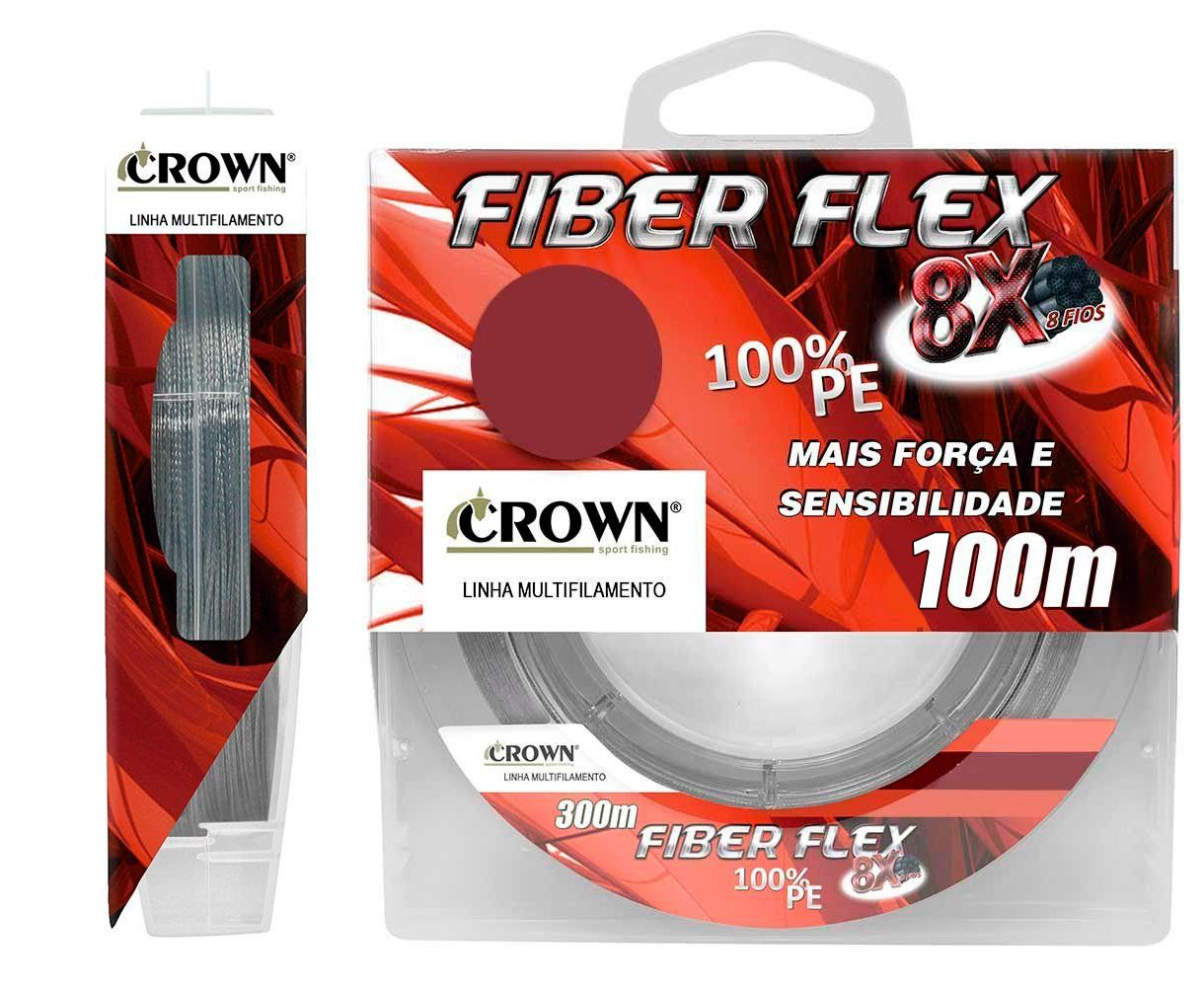 Linha Multifilamento Crown Fiber Flex 8x - 100 Metros