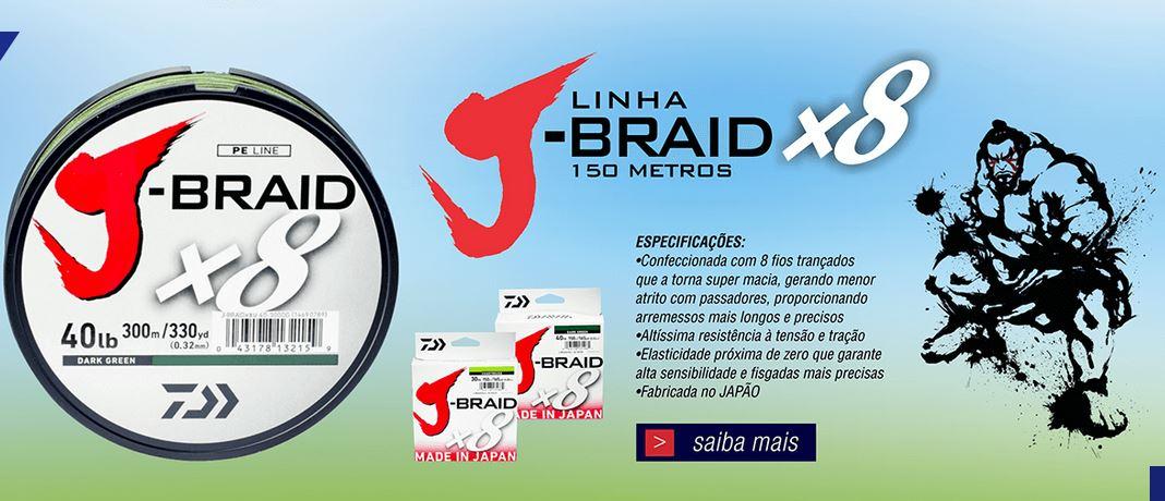Linha Multifilamento Daiwa J-braid 8x - Várias Bitolas - 300 Metros  - Life Pesca - Sua loja de Pesca, Camping e Lazer