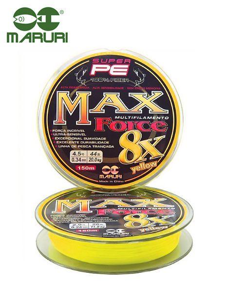 Linha Multifilamento Maruri Max Force 8x 0,30mm 39lb/17,7kg - 150 Metros - Várias Cores