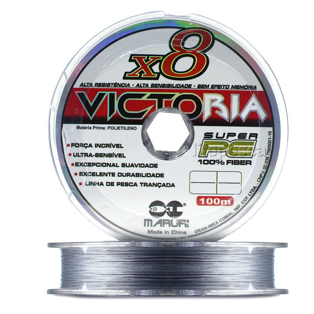 Linha Multifilamento Maruri Victoria 8X 0,34mm 44lbs/20kg - 100 Metros