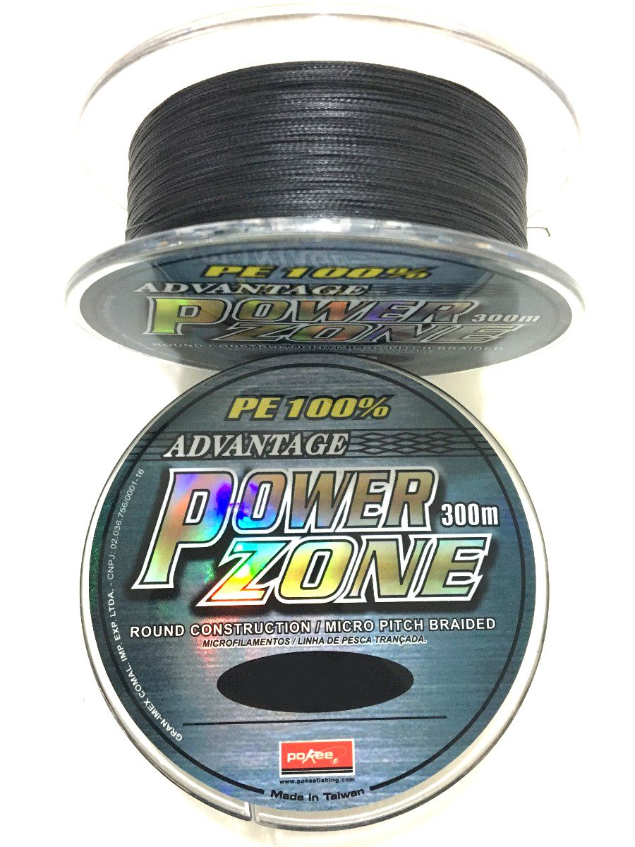 Linha Multifilamento Power Zone 4X Maruri - 0,24mm 42lbs/18,9kg - 300 Metros  - Life Pesca - Sua loja de Pesca, Camping e Lazer