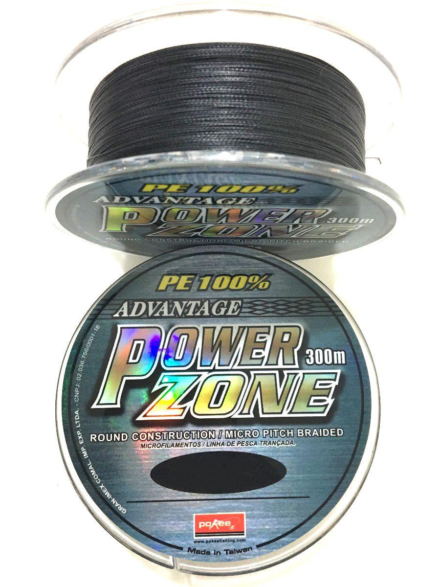 Linha Multifilamento Power Zone 4X Maruri - 0,30mm 52lbs/23,7kg - 300 Metros  - Life Pesca - Sua loja de Pesca, Camping e Lazer