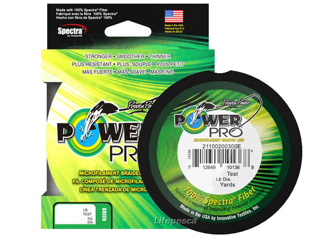 Linha Multifilamento Shimano Power Pro 0,28mm 30lbs/14kg - 135 Metros