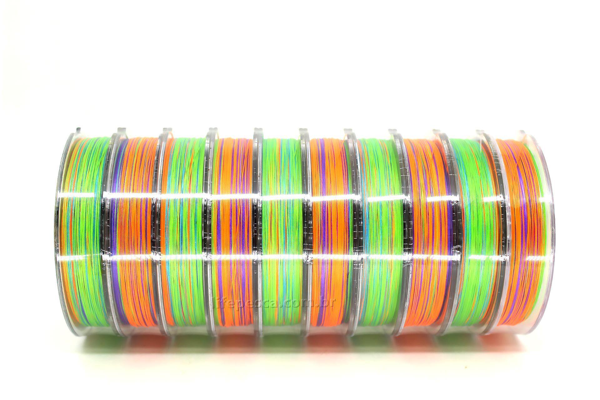 Linha Multifilamento Maruri Victoria 8x Colorida 0,50mm 76lb/34,5kg - 100 Metros  - Life Pesca - Sua loja de Pesca, Camping e Lazer