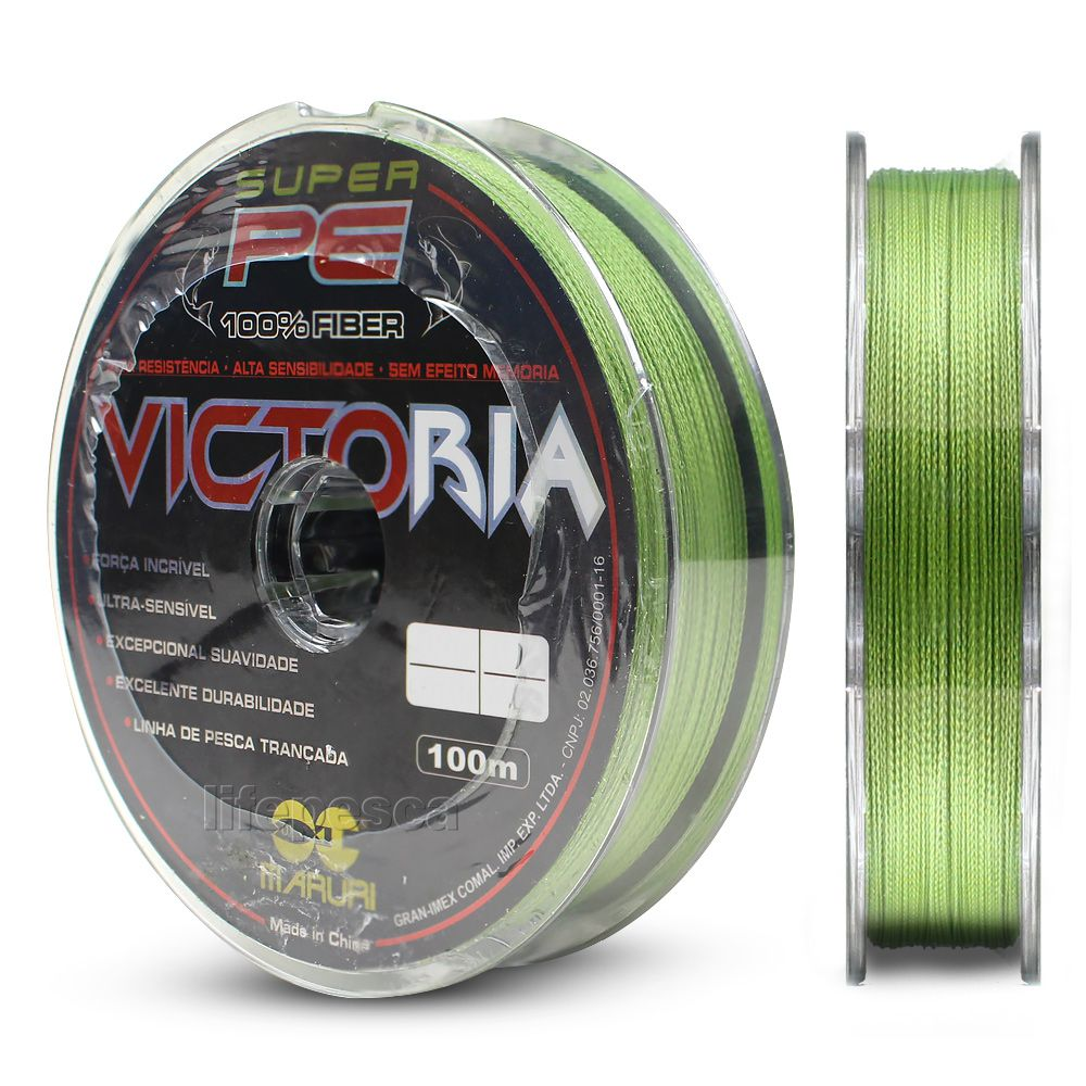 Linha Multifilamento Maruri Victoria 0,34mm 48lbs/21,8kg - 100 Metros