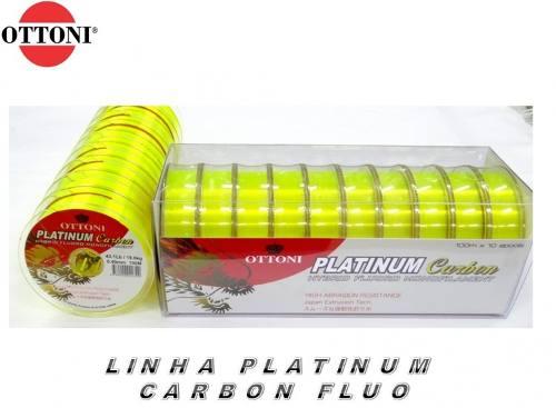 Linha Monofilamento Platinum Carbon Yellow 0,60mm 96,0lbs/43,5kg - 100 Metros  - Life Pesca - Sua loja de Pesca, Camping e Lazer