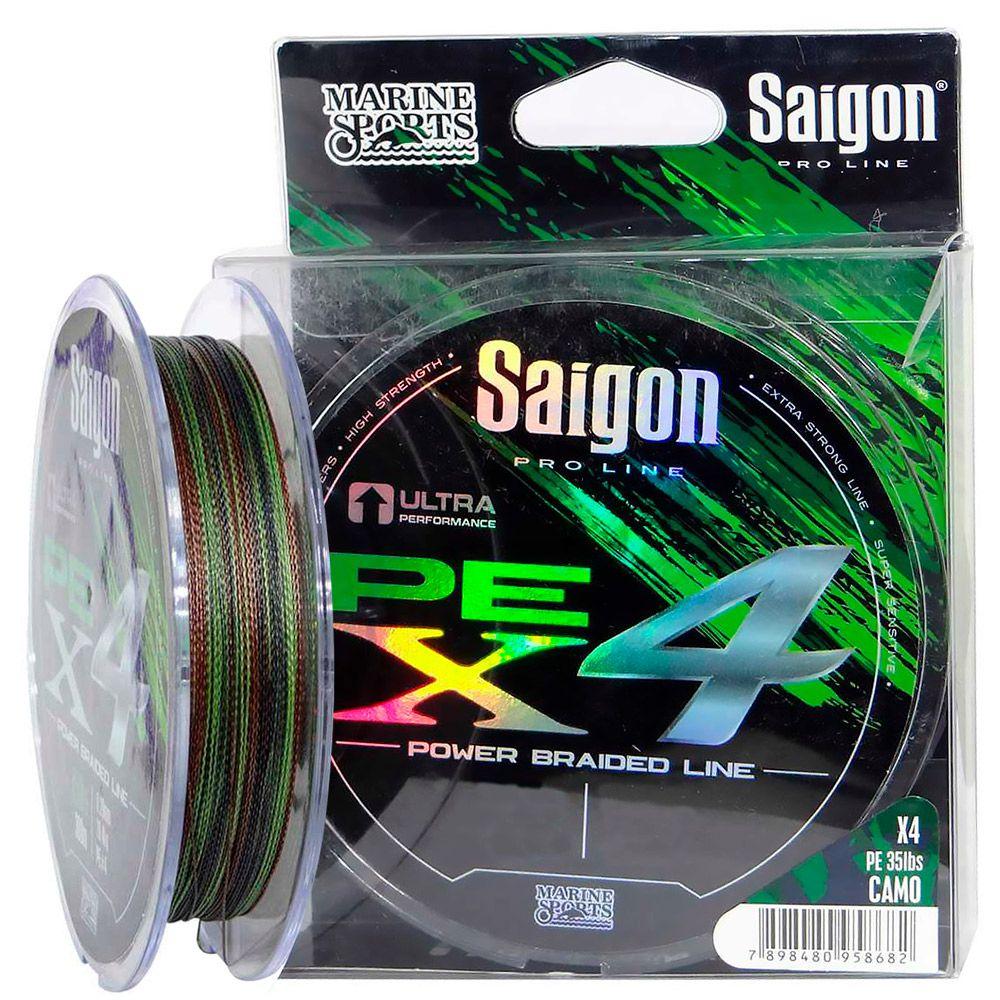Linha Saigon Pro Line Multifilamento x4 0,36mm 60Lbs/27,2kg - 300 Metros