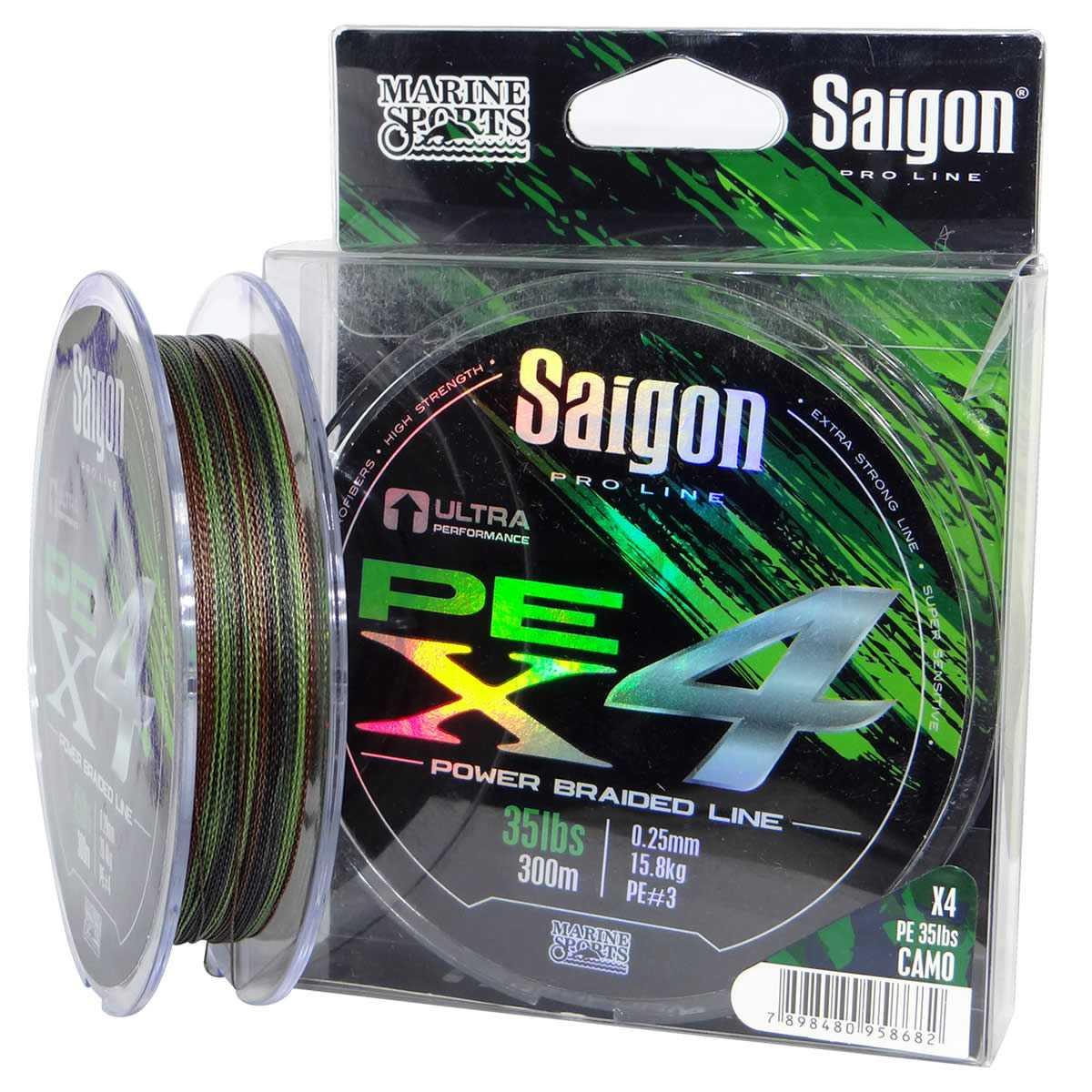 Linha Saigon Pro Line Multifilamento x4 0,25mm 35Lbs/15,8kg - 150 Metros  - Life Pesca - Sua loja de Pesca, Camping e Lazer