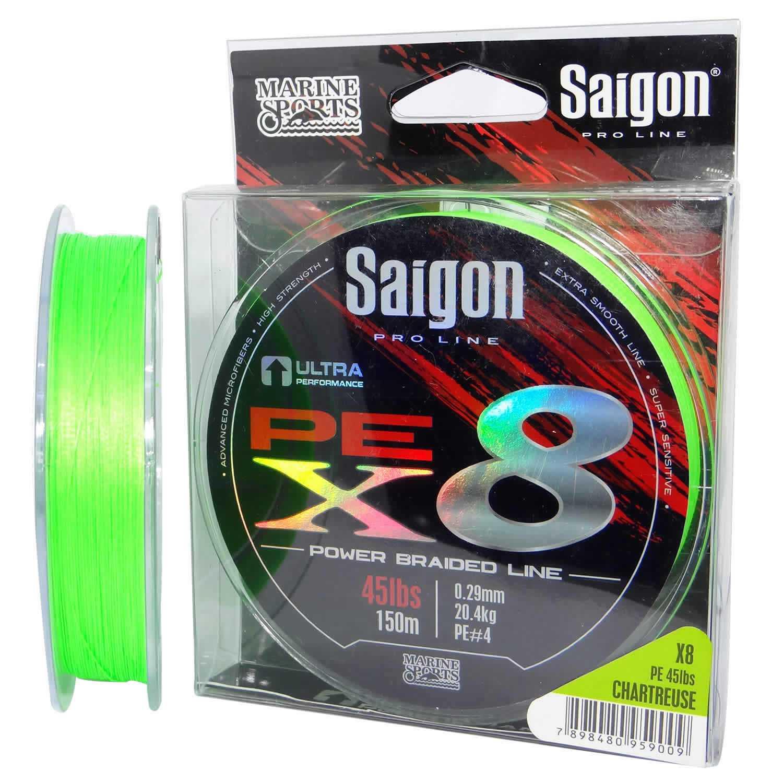 Linha Saigon Pro Line Multifilamento x8 0,25mm 35Lbs/15,8kg - 150 Metros  - Life Pesca - Sua loja de Pesca, Camping e Lazer