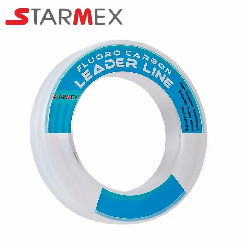 Linha Starmex Fluorocarbon Leader 0.50mm 35lbs/17,04kg - 50 Metros
