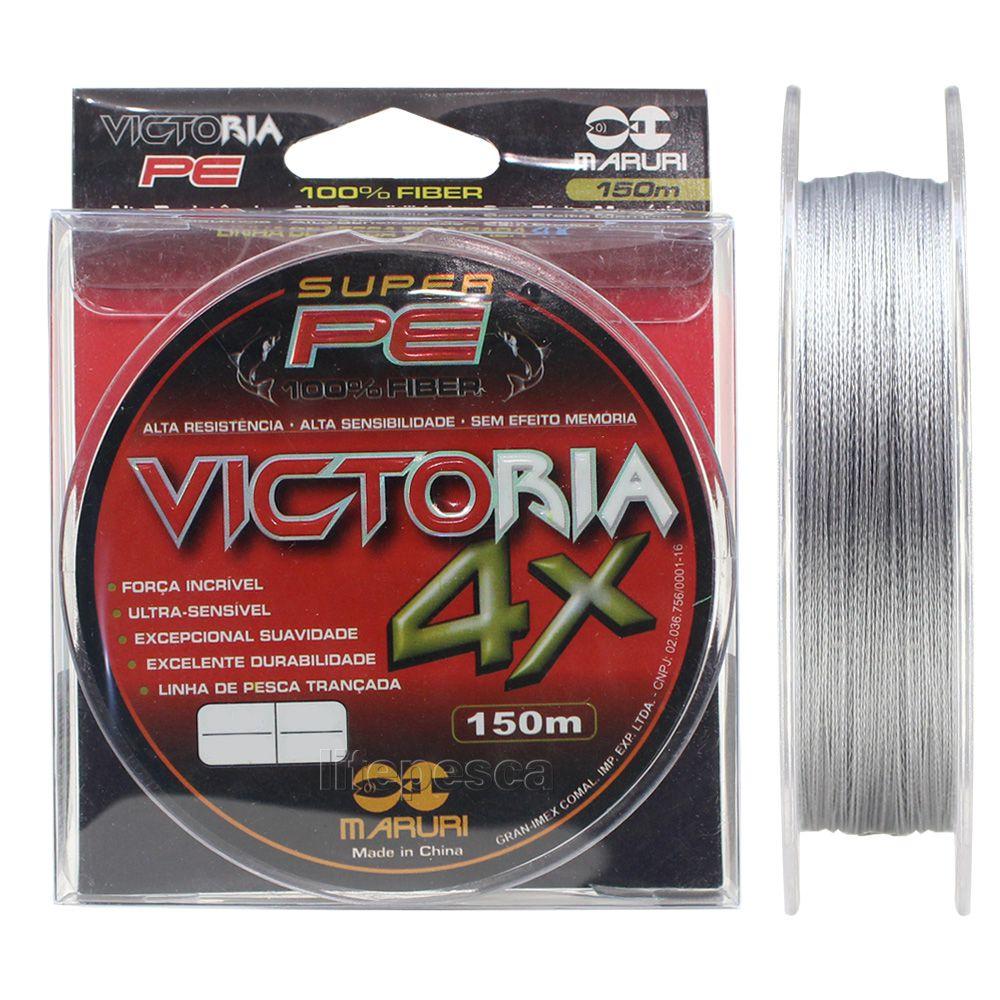 Linha Multifilamento Maruri Victoria 4x - 0,20mm 25lbs/11,5kg - 150 Metros  - Life Pesca - Sua loja de Pesca, Camping e Lazer