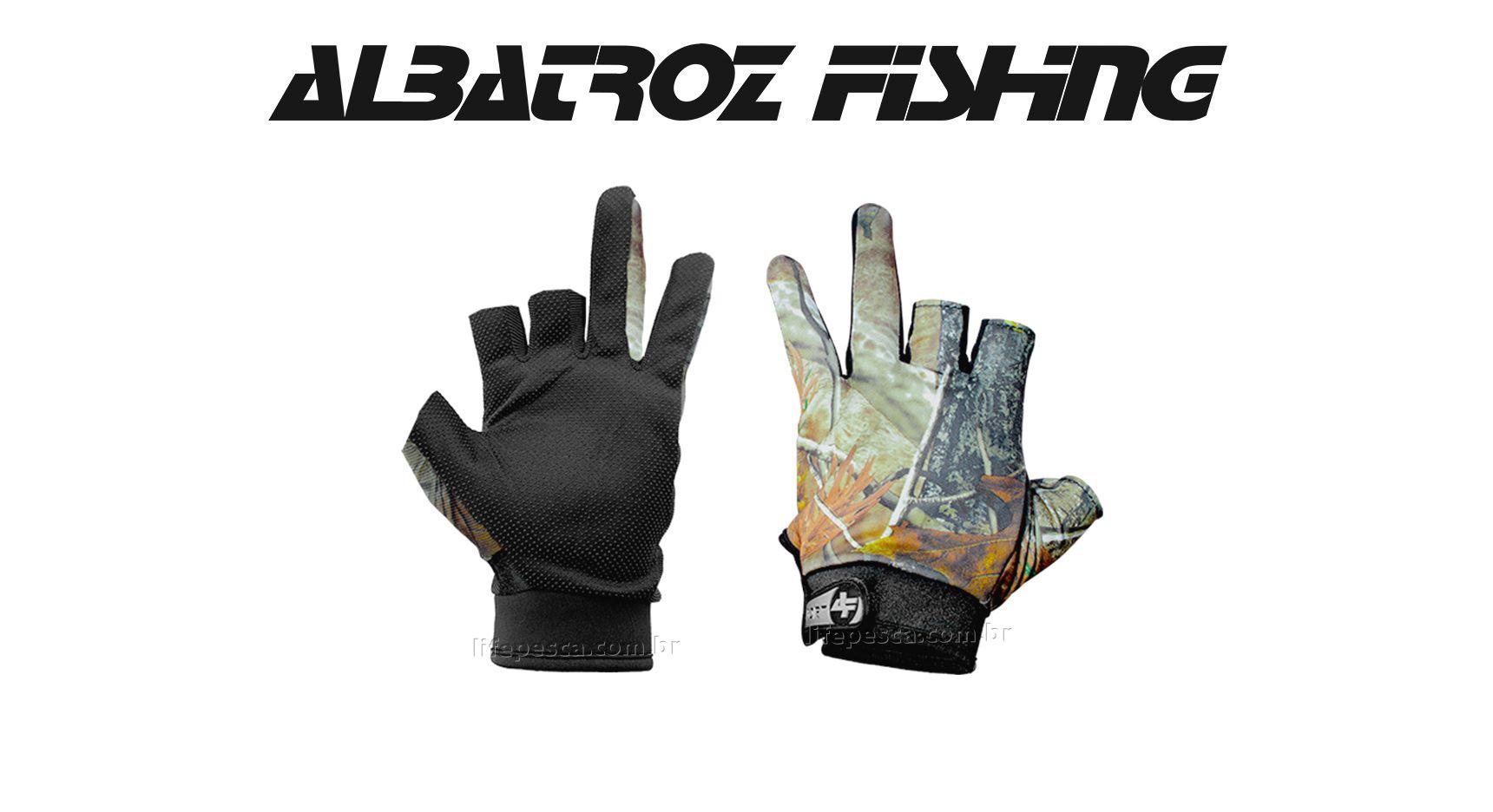 Luva 2 Dedos YL013 - Albatroz Fishing - Camuflada  - Life Pesca - Sua loja de Pesca, Camping e Lazer