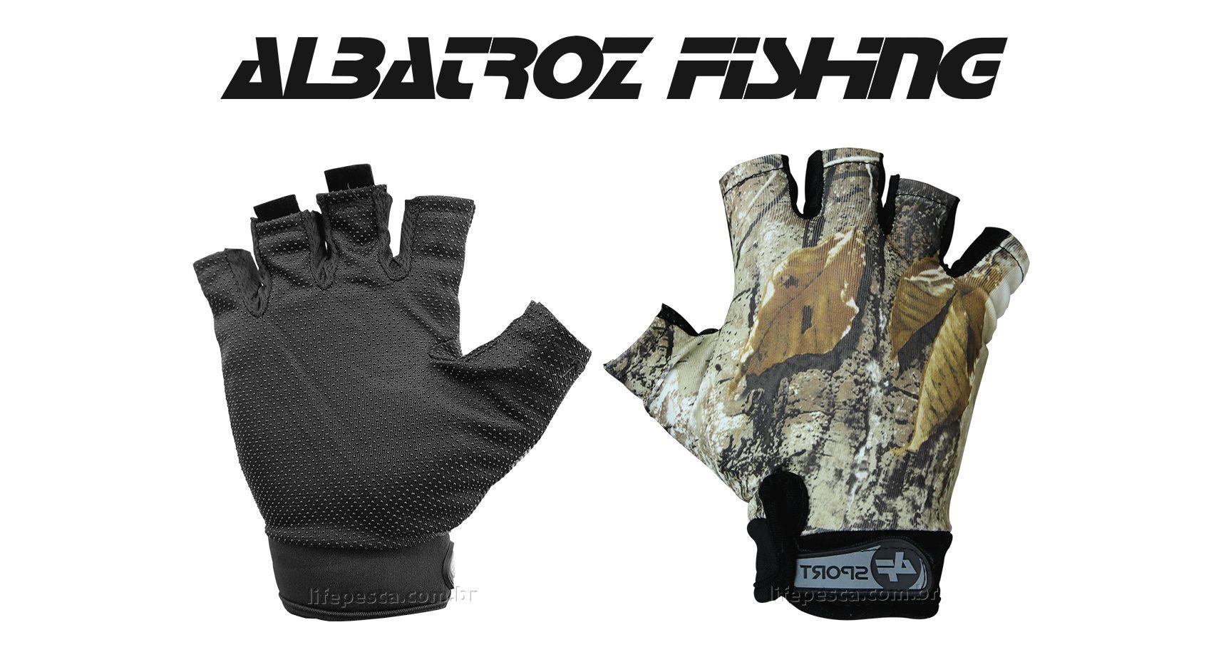 Luva Meio Dedo YL015 - Albatroz Fishing - Camuflada
