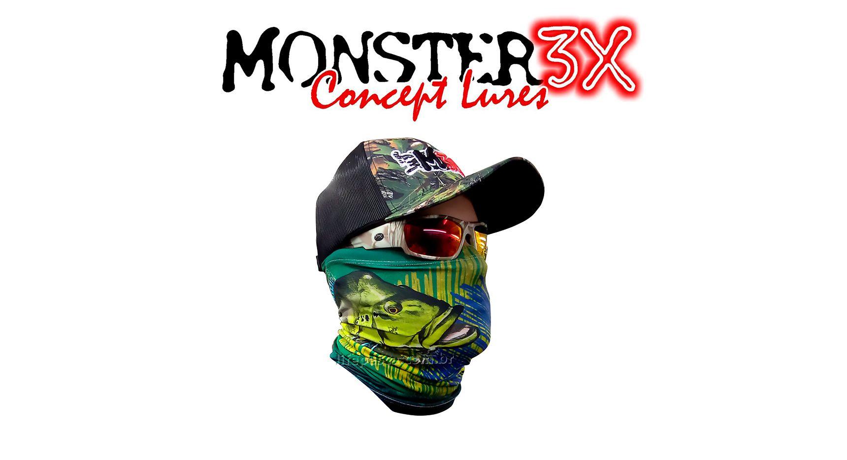 Máscara de Proteção Solar - Monster 3X - Várias Cores