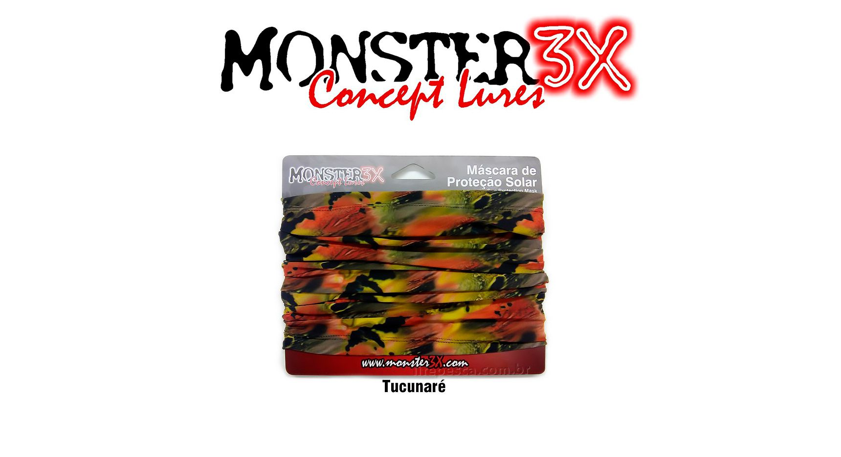 Máscara de Proteção Solar - Monster 3X - Várias Cores  - Life Pesca - Sua loja de Pesca, Camping e Lazer