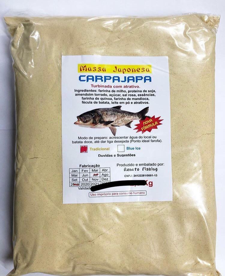 Massa Japonesa Carpajapa Para Pesca Carpa 2,5kg - Vários Sabor