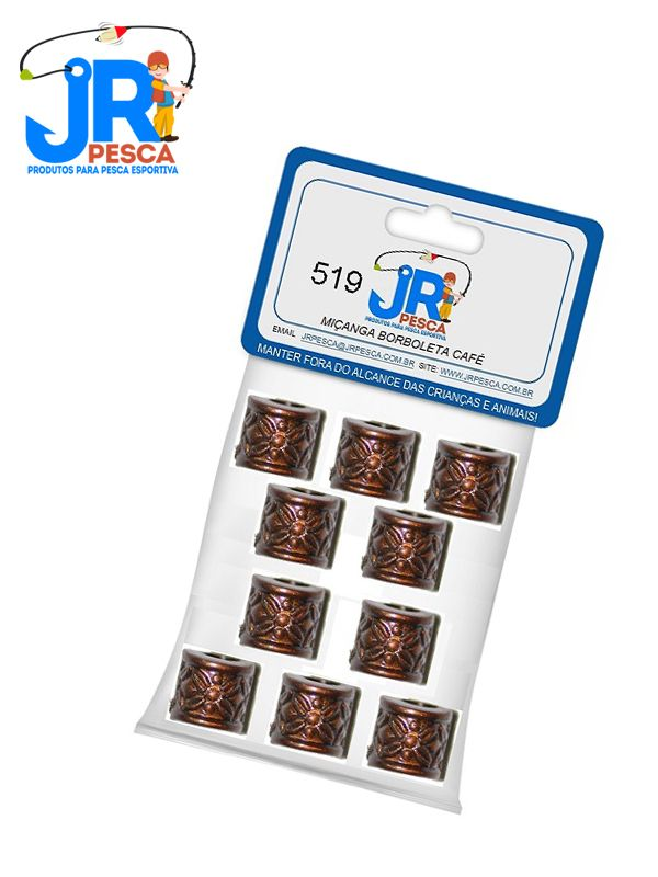 Miçangas JR Pesca - Várias Cores - 10 Unidades