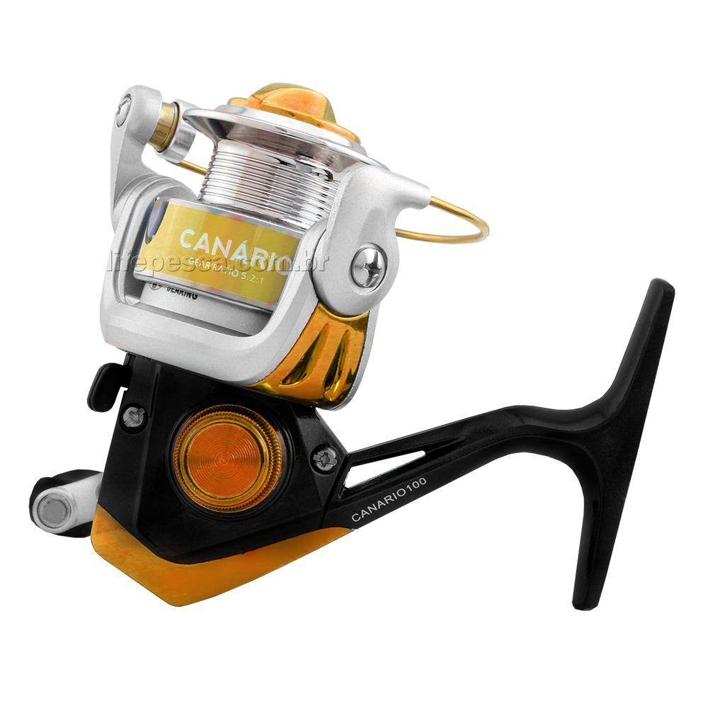 Molinete Albatroz Fishing Canário 100 - Várias Cores