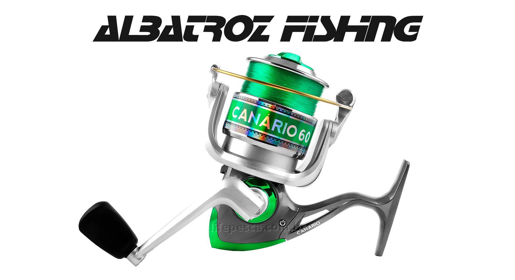 Molinete Albatroz Fishing Canário 30 - 3 Rolamentos Com Linha