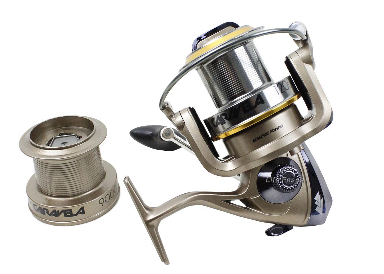 Molinete Albatroz Fishing Caravela 12000 Long Cast + Carretel Extra