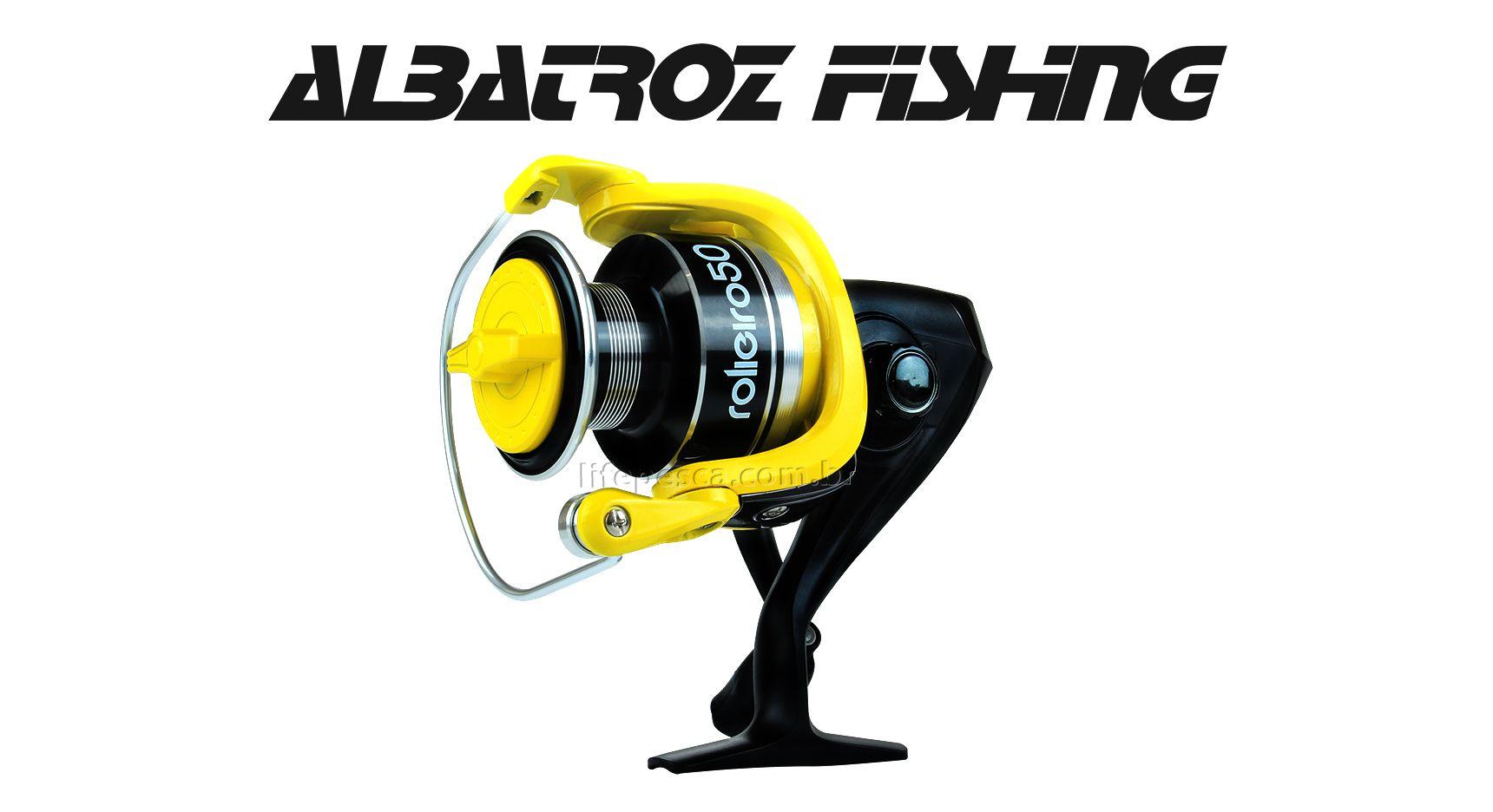 Molinete Albatroz Fishing New Rolieiro 30 - 4 Rolamentos  - Life Pesca - Sua loja de Pesca, Camping e Lazer