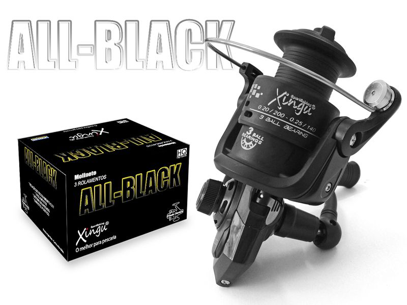 Molinete All Black 4000 3 Rolamentos - Xingu