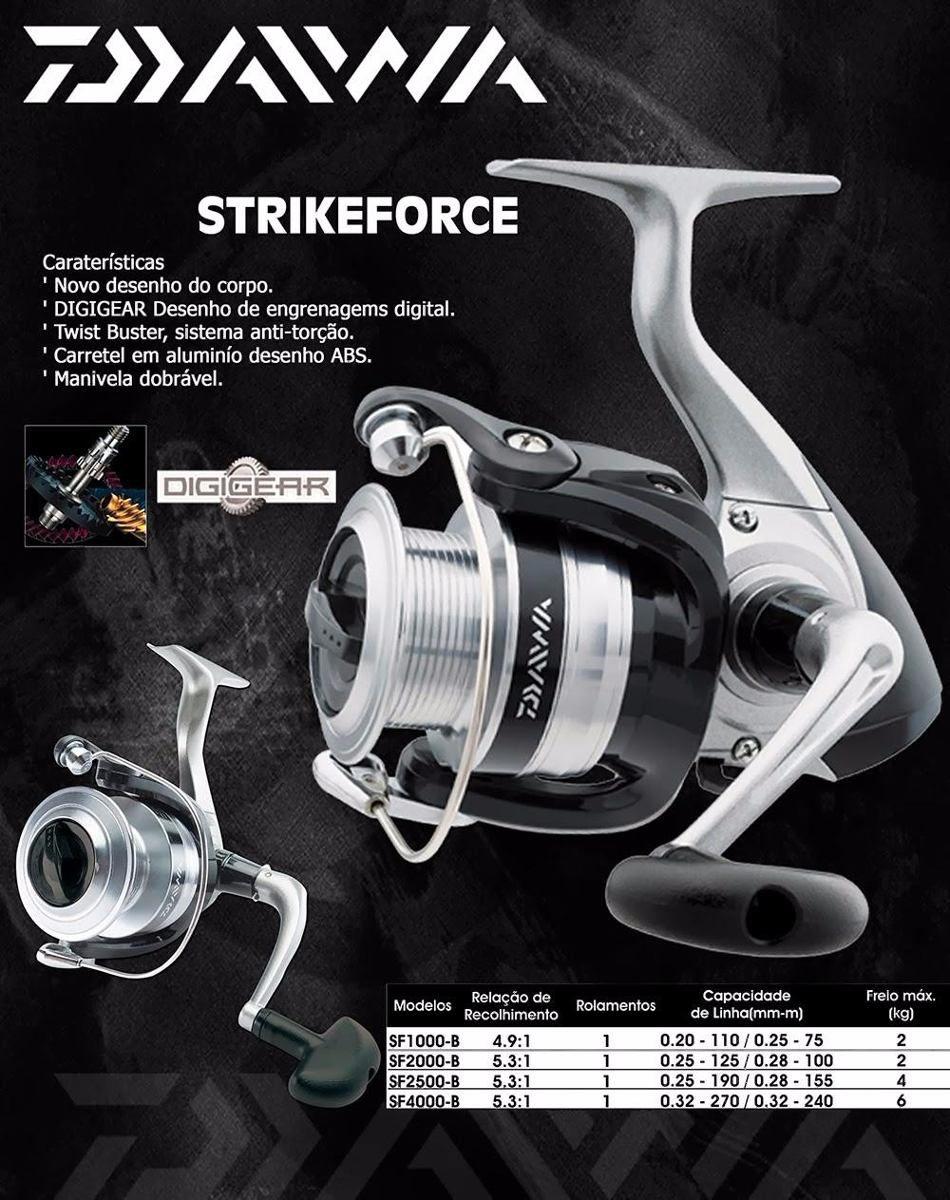 Molinete Daiwa Strikeforce FD SF - 2000 B  - Life Pesca - Sua loja de Pesca, Camping e Lazer