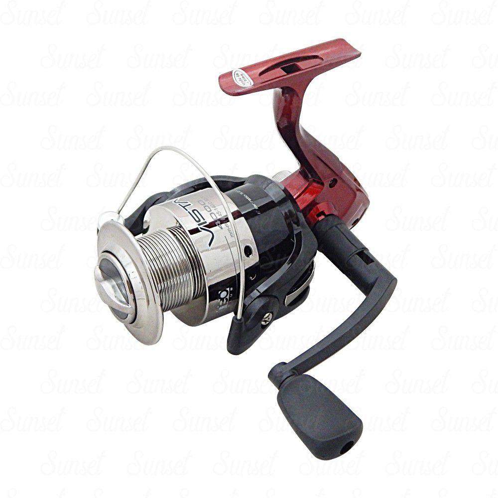 Molinete de Pesca Neo Plus Vista 1000 Fricção Dianteira Recolhimento 5.2:1  - Life Pesca - Sua loja de Pesca, Camping e Lazer