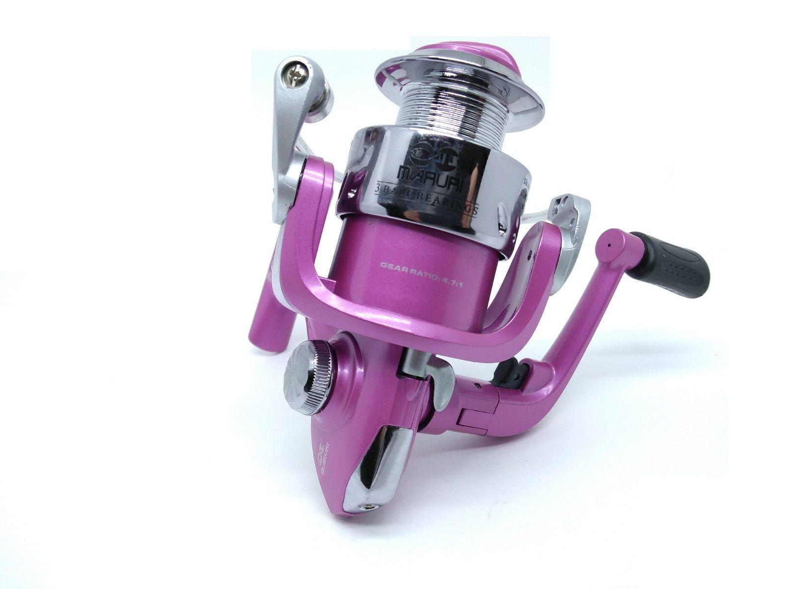 Molinete Maruri Carina 5000 Rosa - 3 Rolamentos  - Life Pesca - Sua loja de Pesca, Camping e Lazer