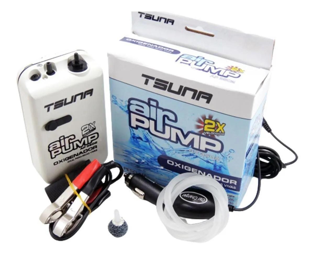 Oxigenador P/ Iscas Vivas Ap 3502 2-D Kit 12V - Tsuna  - Life Pesca - Sua loja de Pesca, Camping e Lazer