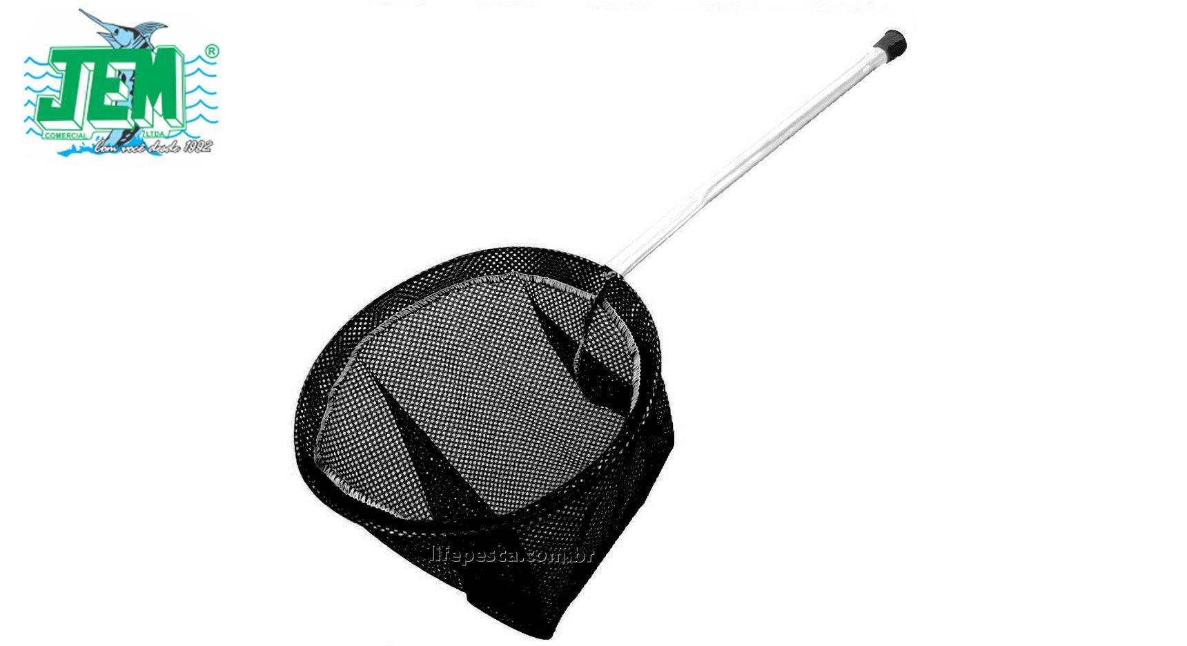 Passaguá Para Isca Alumínio Tela Mole Preta - 27cm - JEM
